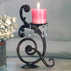 Wrought Iron Candle Holder - The Tutwiler