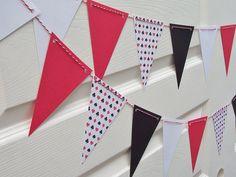 Queen of Hearts Party Banner Collection - Birthdays - Wedding - Shower - Alice in Wonderland. $10.00, via Etsy.