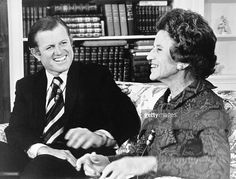 Senator Edward Kennedy and his mother, Mrs. Rose Kennedy, share memories and stories of John F. Kennedy on the 10th anniversary of his assassination on ABC TV, Hyannis, Massachusetts, November 21, 1973.