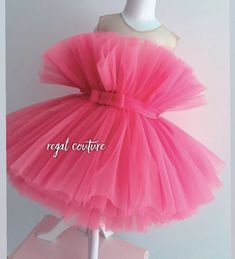 Baby Girl Dress Patterns, Dresses Kids Girl, Baby Dresses, Dress Girl, Baby Girl Birthday Dress, Birthday Dresses, Neon Pink Dresses, Flower Dresses, Neon Party Outfits