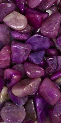 purple polished rocks