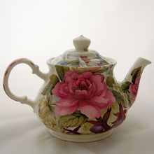 Vintage Sadler England English Teapot Floral Pink Cabbage Roses & Flowers from Antik Avenue Exclusively on Ruby Lane Sold!