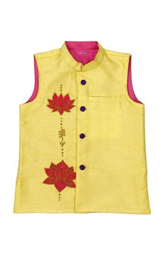 Stylemylo offers a wide range of nehru jackets for boys, designer nehru jackets, waistcoats for boys, designer waistcoats for your little one. Call at 9599342065 for more info. Nehru Jackets, Kids Wear, Indian Outfits, Boy Outfits, Lotus, Kids Fashion, Applique, Baby Boy, Silk