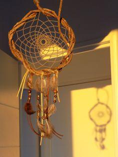 Attrape-rêve réalisé avec des lianes ramassées au Pérou