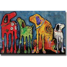 "Amanti Art N/A 26 Inch x Inch ""Best Friends"" Framed Art Print on Paper by Jenny Foster Best Friend Canvas, Best Friend Frames, Framed Art Prints, Painting Prints, Framed Wall, Dog Prints, Artwork Prints, Canvas Prints, Creation Art"