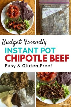 Instant pot or slow cooker chipotle beef recipe - easy to make and it's gluten free and paleo! Take an affordable cut of beef and make it delicious!