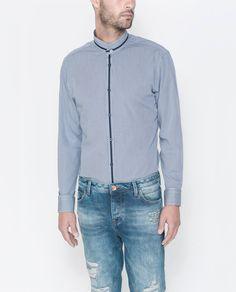CAMISA CUELLO SUPERPUESTO - Camisas - Hombre   ZARA España