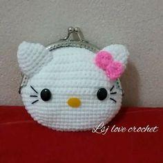 Bb Knit Art, Crochet Art, Crochet Gifts, Cute Crochet, Crochet Dolls, Crochet Coin Purse, Crochet Backpack, Crochet Purse Patterns, Crochet Purses