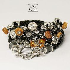 Tribal (bursztyn)- bransoleta / Anioł / Biżuteria / Bransolety
