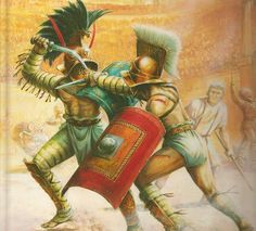 Murmillo gegen Thraex
