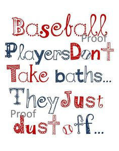 "Boy Art, Baseball wall art, 11x14"" print, for nursery, or playroom, or as a gift on Etsy, $25.00"