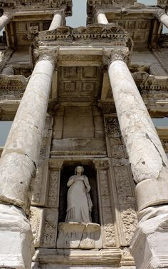 Library of Celsus by Canankk~The library of Celsus is an ancient Roman building in Ephesus, Anatolia, now part of Selçuk, Turkey.