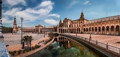 Destinations, Seville Spain, Europe, Plaza, Louvre, Building, Travel, Architecture, Viajes