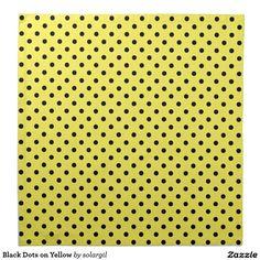 Black Dots on Yellow Printed Napkin