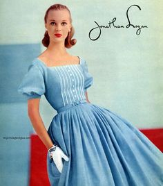 1957 Jonathan Logan 1 | Ipolani | Flickr Vintage Inspired Dresses, Vintage Dresses, Vintage Outfits, Fifties Fashion, Retro Fashion, Fifties Style, 1960s Dresses, Fashion Catalogue, Vintage Vogue