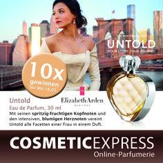 #Gewinnspiel #Facebook #ElizabethArden # Untold #gewinnen #CosmeticExpress Gewinne einen von 10 Untold EdP von Elizabeth Arden --> https://www.facebook.com/CosmeticExpressCom