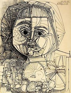 Pablo Picasso - Paloma with Doll - 1952