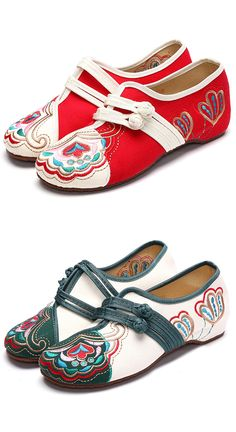bf23e97faf6 Vintage Chinese Embroidered Flower Mary Janes Buckle Casual Flat Loafers is  cheap and comfortable. There are other cheap women flats and loafers online.