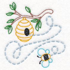 Beehive Buzzin' | Urban Threads: Unique and Awesome Embroidery Designs