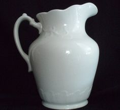 Antique Water Ewer Pitcher Anchor Ironstone Pottery, $110