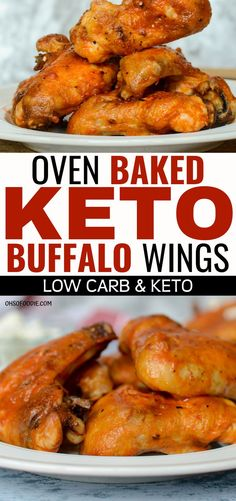 These oven baked keto buffalo wings are THE BEST! I'm so glad I found this easy and delicious keto buffalo chicken recipe! Now I can enjoy these crispy keto chicken wings guilt free! Definitely pinning this for later! Keto Foods, Healthy Low Carb Recipes, Low Carb Dinner Recipes, Low Carb Keto, Keto Recipes, Dinner Healthy, Keto Fat, Healthy Breakfasts, Thai Recipes