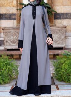 Double the fun with this Double Layer Abaya from Shukronline.com
