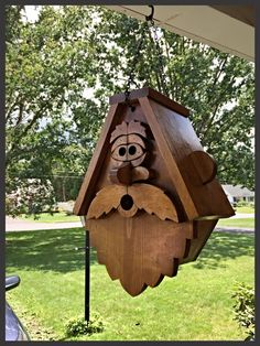 This Old Man Style Birdhouse will come shipped to you ready to hang outside. Nest removal is easy so you can use the birdhouse year after year. The birdhouse is sure to be a conversation piece for your yard. The birdhouse measures 16 1/2 inches and 13 inches at its widest point. Please Note that this item is made to order so please allow 1week for me to build it.
