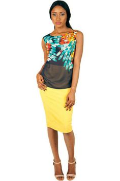 EVE AND TRIBE MIMI PLACEMENT PRINT TOP #EVEANDTRIBE  #AfricanFashion #NigerianFashion #BuyNigerian   Available at http://lespacebylpm.com/
