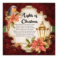 Shop Robin & Lantern Christmas Party Invitation created by invitationsbymarlo. Christmas Verses, Christmas Prayer, Christmas Blessings, Christmas Candles, Christmas Traditions, Family Christmas, Christmas Holidays, Christmas Crafts, Merry Christmas
