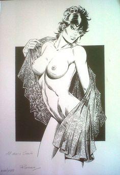 Modesty Blaise Pin Up Print 100/100 by Enric Badia Romero Comic Art