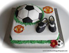 Kakebua's blogg: Fotballkake Manchester United