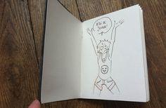 Cy. vous propose aujourd'hui un DIY de son cru pour confectionner un carnet avec (quasi) zéro sou ! (Allez voirson blogetsa page Facebook!) (etses autres dessins.) Vous avez réalisé un carnet grâce à ce tuto ? Montrez-le nous ! Postez vos photos de carnet dans les commentaires ci-dessous !