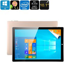 Teclast Tbook 10 S Tablet PC - Win 10 + Android 5.1 OS, Intel Atmo Z8350 CPU, 4GB RAM, 64GB Memory, 10.1 Inch IPS Screen - The Teclast Tbook 10 S Tablet PC is has a Windows 10 and Android 5.1 OS, an Intel Atom Z8350 CPU with 4GB RAM and can become a laptop. all at an incredibly cheap price