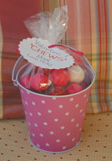 "Valentine I ""Chews"" you! Fill with gumballs and other chewy things."