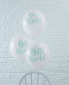 These cute Hello World baby shower balloons would be a lovely addition to your baby shower decorations and would be perfect for a pastel baby shower theme. Pick yours up at partydelights.co.uk.