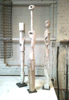 Kit Reuther new Abstract Sculpture, Wood Sculpture, Abstract Art, Totems, Sculptures Céramiques, Driftwood Art, Art Blog, Ceramic Art, Sculpting
