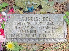 The grave of Princess Doe Unidentified murder victim Cedar Ridge Cemetery, Blairstown, New Jersey