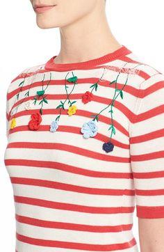 Women's VIVETTA 'Venera' Embroidered Stripe Sweater