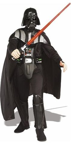 Get our Adult Deluxe Darth Vader Star Wars costume just in time for Halloween this year. This authentic Darth Vader costume will impress any Star Wars fan! Disfraz Darth Vader, Darth Vader Kostüm, Costume Star Wars, Disfraz Star Wars, Darth Vader Lightsaber, Stormtrooper, Vader Star Wars, Red Lightsaber, Heroes