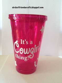 It's a cowgirl thing tumbler