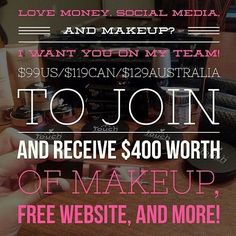 $400 worth of makeup for only $99 USD when you join as a Younique presenter today.
