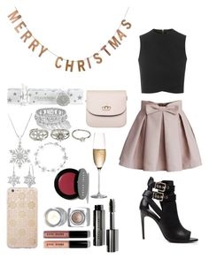 """Christmas Dinner with the Family"" by livelifewithasmile ❤ liked on Polyvore featuring Topshop, Chicwish, Burberry, Sonix, Threshold, Bobbi Brown Cosmetics, SteamCream, Amanda Rose Collection, Aéropostale and Bling Jewelry"