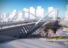 Lincong bridge, Huashan by Santiago Calatrava