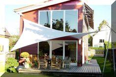 sonnensegel über eck die  besten bilder von sonnensegel in  | garten