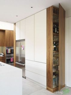 Magnificent Rustic Kitchen Island Design Ideas – Home Decor İdeas Modern Kitchen Design Small, Kitchen Cabinet Design, Kitchen Island Design, Small Modern Kitchens, Kitchen Layout, Kitchen Pantry Design, Modern Kitchen Design, Minimalist Kitchen, Rustic Kitchen