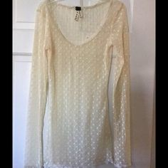 ✳️SALE✳️We the Free ivory lace tunic Stunning Ivory lace tunic top. Care label has been removed. Underarm across 13 inches. Length 28 inches. But deform even bigger savings! Offers welcome. No trades. Free People Tops Tunics