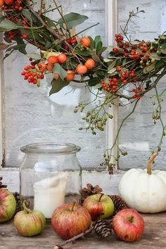 Eine schöne Herbst-Deko Idee mit Äpfeln aus dem eigenen Garten. :)