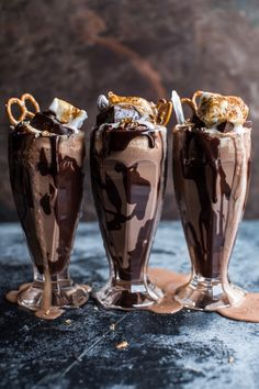 Salted Pretzel Nutella Fudge Milkshake w/Malted Milk Whip Cream...