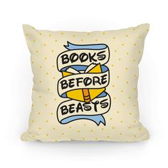"""Books Before Beasts - Show off your inner, book loving Belle and forget the Beast with this """"Books Before Beasts"""" book lover, parody design! Perfect for a reader, bookworm, Disney fan, introvert, bibliophile, library lover, and gifts for readers!"""