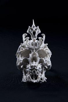 "PORCELAIN SKULL Japanese artist Katsuyo Aoki created these astonishingly intricate skulls for his series ""Predictive Dream. Samhain, Art Actuel, Skull And Bones, Japanese Artists, Or Antique, Dark Art, Oeuvre D'art, Ceramic Art, Sculpture Art"